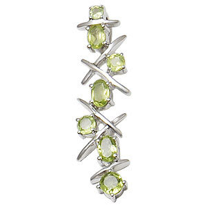 long design pendant style peridot pendant light weight silver pendants for wholesale
