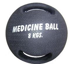 Rubber Medicine Ball - Dual Handle