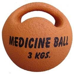 Rubber Medicine Ball - Single Handle