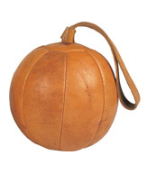 Leather Medicine Ball with Strap