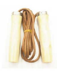 Skipping Rope Leather with Wooden Handle