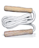 Skipping Rope Cotten with Wooden Handle
