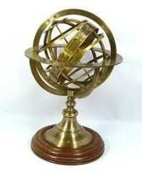 Armillary Globe With Wooden Base