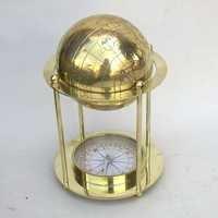 Brass Compass Globe