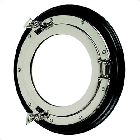 Nickel Porthole Mirror