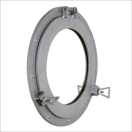 Brushed Porthole Aluminum Mirror 15