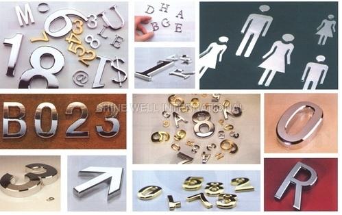 ABS Electroplating Letter / Number & Toilet Logo