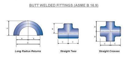 BUTT WELDED FITTINGS (ASME B 16.9)