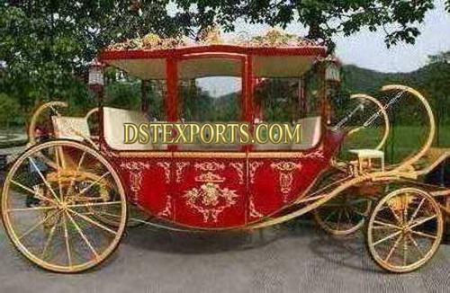 Royal Gold Red Horse Carriage