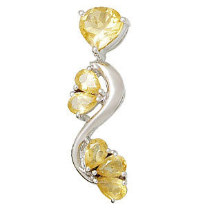 designer silver citrine jewelry in silver 925 sterling silver gemstone pendants on wholessale