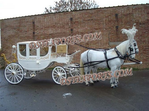 Royal White Covered Carriage