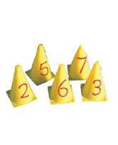 Number Printed Cones