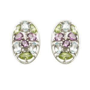 Multi Gemstone Studded EarringRussian Earring Des