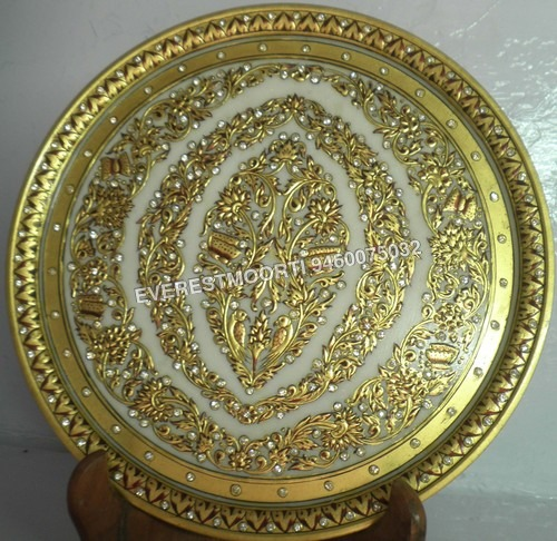 Round Marble Plates