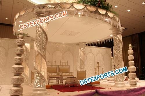 Wedding Crystal Fiber Mandap Set