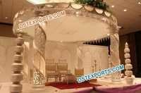 Wedding Crystal Fiber Mandap Set