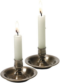 Brass Black Candle Holder