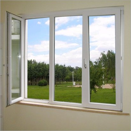 White Designer Upvc Window