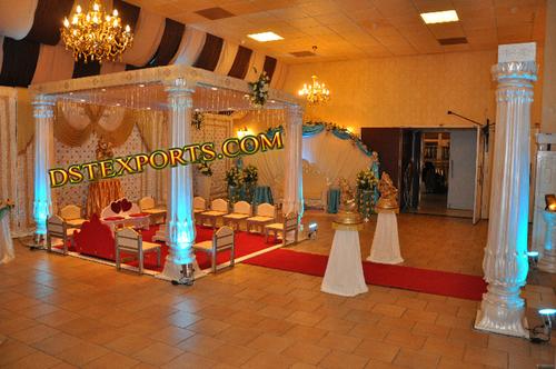 Indian Wedding Flower Pillar Mandap