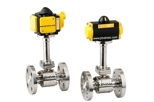 2 Way Pneumatic Actuator Operated Cryogenic Ball Valve