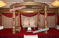 Indian Wedding Crystal Bottle Mandap