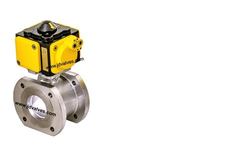 Pneumatic Actuator Operated Wafer Type Ball Valve