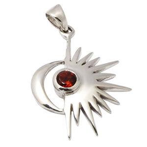 women power pendant in silver spritual gemstone pendant design