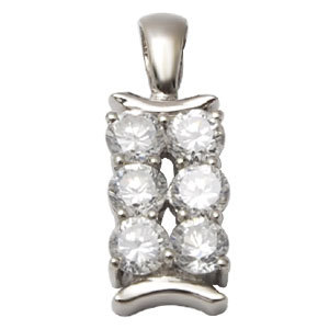 small cz silver pendant cheap silver pendant for girls pendants for wholesale