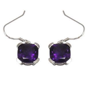 Purple Color Earring, Hook Hanging Earrings