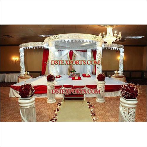 Fiber Crystal jali  Mandap For wedding