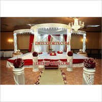 Fiber Crystal jali  Mandap For wedding