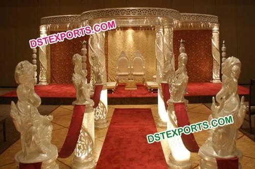 Wedding Carved Crystal Mandap Set