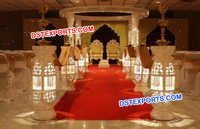 Wedding Crystal Bottle Type Mandap Set