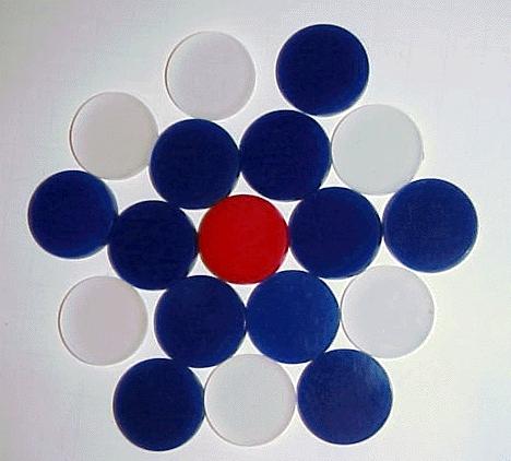 Carrom men Acrylic or Plastic
