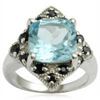 2013 latest ring designs cheap championship rings blue topaz cushion shape stone ring design