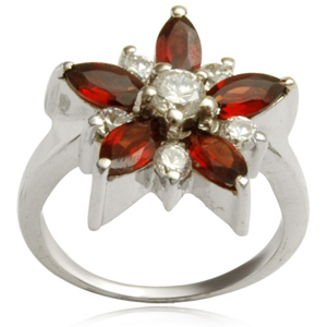 flower ring studded with marquise and rounds gemstonevalentines day ring from valentine jewellery