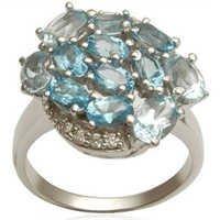swiss blue topaz ring design gemstone silver womens ring october birthstone jewelry