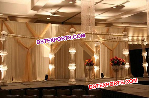Elegent Wedding Fully Crystal Mandap