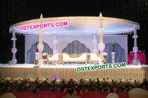 Fully Crystal Mandap For Wedding