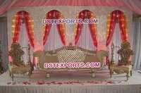Royal Asian Wedding Wooden Carved Sofa Set
