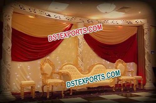 Asian Wedding Stylish Gold Furniture Set