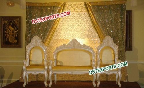 Asian Wedding Pearl Gold Sofa Set