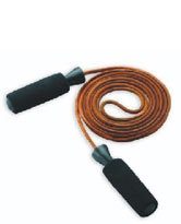 Skipping Rope Leather with Plastic Handle