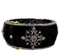 14k Gold Enamel Pave Diamond Bangle Jewelry