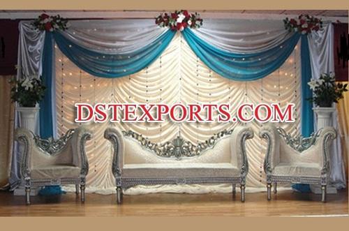 Asian Wedding Silver Furniture