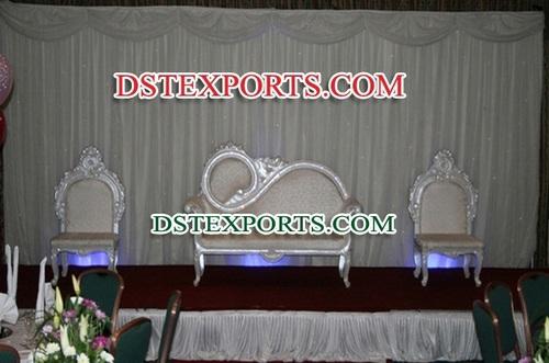 Asian Wedding Silver Love Sofa Set