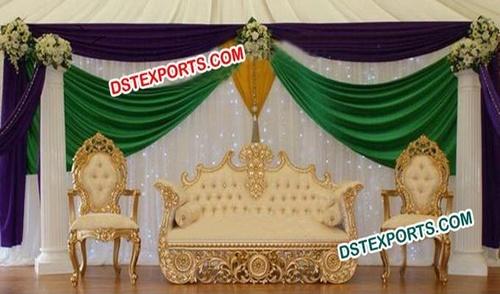 Asian Wedding Gold Furniture Wedding Sofa Set
