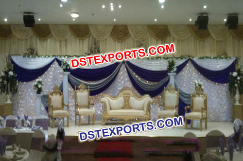 New Asian Wedding Stage Love Furniture Set