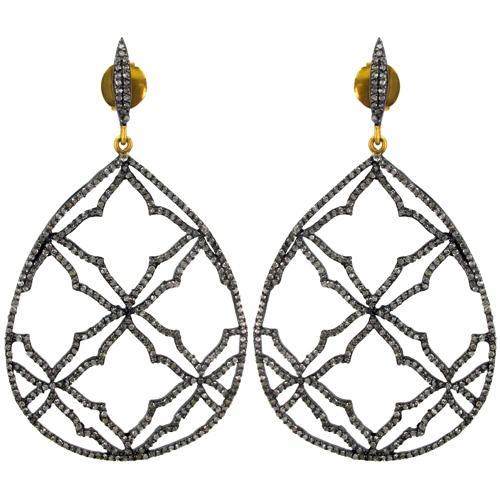 Pave Diamond Earrings Jewelry