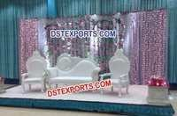 Asian Wedding White Pearl Love Sofa Set